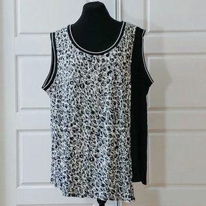 REITMANS black and white leopard print top